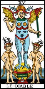 le tarot de marseille 15 le diable