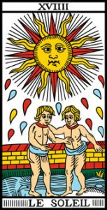 le tarot de marseille 19 le soleil