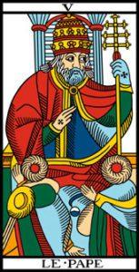 le tarot de marseille le pape