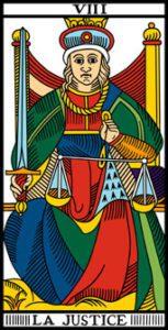 le tarot de marseille la justice